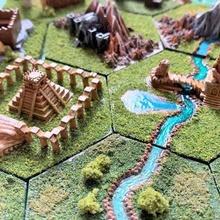 wargaming hex tiles mighty empires - aztec lizardman game games wargaming wargames wargame tile mighty empires mighty lizardman lizard inca hex tile hex empires aztec