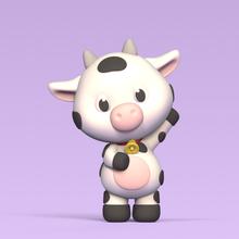 waving cow waving waving cow cow cute cow cute miniature sculpture animal farm milk decorative play fun funny