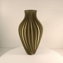 wavy bulb vase flower vase vase mode wavy vase twisted vase geometric vase bulb vase vase flower vase dried flower vase home decoration decor shelf decor modern vase elegant vase slimprint vase mode