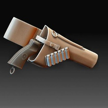 webley 38 weapons art gadget bullet guns high poly