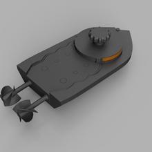 Aufzieh-Boot-dual-Laufwerks - schraubenlos - voll 3d-gedruckt Spiel mechanische Spielzeuge windup Wanne Zahnräder Boot