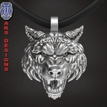 wolf 1 pendant jewelry jewel jewellery biker gang club riders punk jewelri pendant skull rings beast dog wild animal organic fur hairs teeth angry jewelry pendants