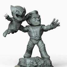 carcaju colosso chibi personagem estátua escultura figura xmen colosso carcaju maravilha histórias quadrinhos engraçado zbrush 3dprint quadrinhos maravilha estatueta desenho animado garra arte jogos brinquedos jogos brinquedos