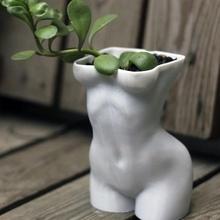 mulher corpo Panela plantador travessuras cacto Panela plantador fêmea corpo jardim jardinagem plantio
