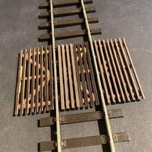 wooden anti trespass panels 7mm scale gauge model railway model railway building o gauge 7mm scale british wooden anti trespass track accesories roadway street road miniature level crossing 1/43 1:43 scenery detail