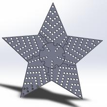 ws2811 hd pixel estrella 24 pulgada ws2811 píxeles luces x Navidad