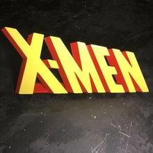 x men 3d logo x men x men logo glotón clásico logo dibujos animados logo