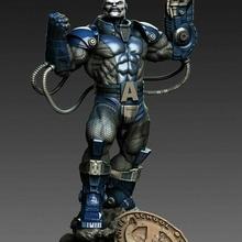 x men apocalisse scultura futuristico cyborg statua guerriero meccanico xmen comico apocalisse sci fi fan art finzione robot futuro arte sculture xman logan ghiottone jean Professore x Professore