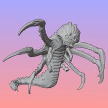xenos hungerer dos pares de guadañas tentáculo versión juego animal wargames en miniatura