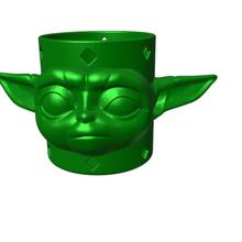 Yoda Bleistift Topf Yoda Bleistift Halter Unterstützung Topf Bleistift Yoda Halter Unterstützung Star Kriege