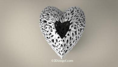 voronoi heart vase 3dizingofcom math-art voronoi heart vase dizingof