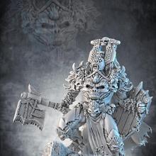 enloquecido caos guerrero líder mesa fantasía juego héroe líder rpg guerra guerrero miniatura martillo mal juego guerra caos d d dnd enloquecido wh Berzerk estiércol