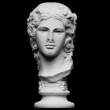 Dionísio Varredura fracasso Deus cabeça mitologia retrato escultura vinho gesso cópia fragmento Dionísio artec smk openglam artec eva smk open