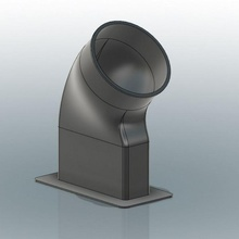 10cm diam tubo ventana huele extractor tubo extractor fotón