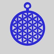 flor la vida Blume Design Amulett Talisman Hals Mitternacht