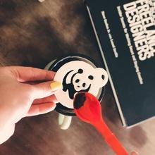 Panda Kaffee Schablone Tier Kuchen Kaffee Cupcake Küche Panda Schablone schmücken