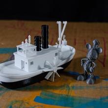 vapur willi tekne çocuklar yüzer çocuklar gemi oyuncak banyo Disney fare buhar yüzmek Mickey fare micky küvet vapur küvet willi