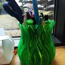 sinew vase 2 pencil holder & garden flower decoration desk gift office pot vase twisted pencils spiral pencil holder spiralize vase mode sinew