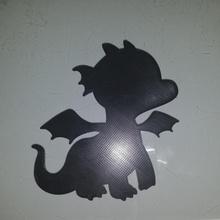Baby Drachen Silhouette Schablone Baby niedlich Drachen Silhouette Airbrush Schablone Kunsthandwerk Sprühfarbe süß