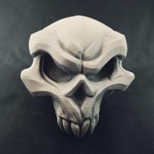 demônio crânio loja demônio ossos fantasia jogos modelo enfeite crânio videogame miniatura esculpir Darksiders joe madureira