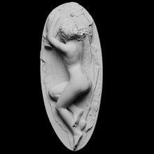 dormindo bacchante Varredura fêmea mitologia escultura mulher mármore nu descansar dormir Baco Dionísio full figure dormindo bacchante cc0 openglam Carrara artec eva Museu Nacional