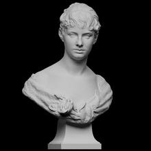 anna Bredberg Varredura fracasso fêmea retrato escultura mármore artista anna bredberg Flensburg