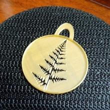 Farn Blatt Schablone Kaffee openscad Schablone fraktal Customizer fern leaf Farn