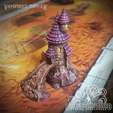 vampire tour table bâtiment fantaisie gothique paysage mini rpg échelle terrain tour vampire miniature jeu plateau Dracula Château talisman donjon dnd paysage mageknight
