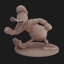 Donald anime dessin animé canard figure sculpter disney Mickey colère Donald