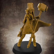 umano femmina chierico 32mm scala miniatura tavolo femmina umano warhammer miniatura Dungeons and Dragons tavolo gioco guerra d d dnd chierico esploratore