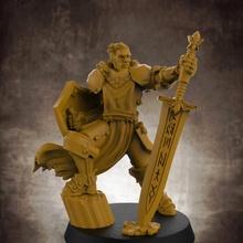 umano maschio paladino gratuito 32mm scala miniatura gratuito umano modello rpg warhammer miniatura maschio Dungeons and Dragons paladino d d dnd esploratore