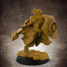 umano maschio guerra chierico 32mm scala miniatura tavolo umano scudo warhammer maschio mantello paladino chierico heavyarmour armatura pesante