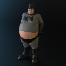 Batman pensionato Batman figurina statua supereroe 3dprinted dc 3dprint 3dprinting 3dmodel 3dprintable 3dprinter dcuniverse collezione zbrush