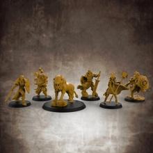 guerrieri stoffa collezione santo guerrieri 32mm scala miniature tavolo Leone miniature rpg lupo carattere pc Dungeons and Dragons minis paladino d d dnd chierico esploratore playercharacter