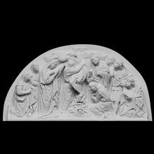 descente traverser analyse christianisme traverser Jésus bas relief Christ cathédrale descente Duomo crucifixion san martino itly