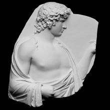 antinoo silvanus scansione Dio amore pino scultura divinità gesso tunica sollievo uva Adriano antinoo silvanus raccolto artec albani cc0 openglam artec eva smk open