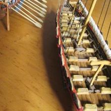 piccolo vichingo nave guerra 2x13 remi ca 1000 ad modello scala nave vichingo