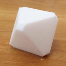 octaèdre cube éducatif forme visuel cristallographie