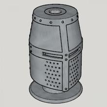 medieval great helm pen stand standard ver 1-3 size ver medieval great helm pen stand standard ver 1-3 size ver