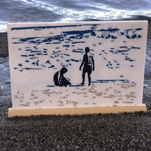 ragazzi spiaggia silhouette spiaggia oceano silhouette sabbia meshmixer vacanza tinkercad vacanza asllexicon Todd olsen puntellare starlabs3d stella laboratori 3d colorato colorato silhouette ragazzi spiaggia spiaggia silhouette