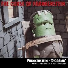 Frankenstein diorama jardin mini Frankenstein diorama mec wekster joufflu