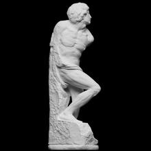 rebellious slave scan body sculpture louvre masterpiece male michelangelo figurative full-figure slave artec struggle openglam artec-eva smk-open rebellious renaisance