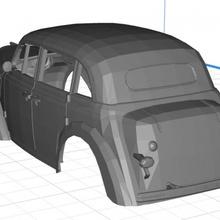 opel kadett 1936 printable 3d body car car printable body opel kadett 1936