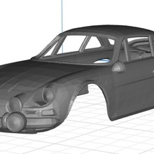 renault alpine body car printable 3d car printable body renault alpine