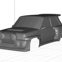 renault copa turbo body car printable 3d car printable 5 body hobby shell radio rc slot scalextric control turbo tamiya renault copa miniz 1-10 1-32 1-18 1-24