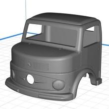 body cab truck mercedes 1113 - kipper printable 3d car printable body hobby shell truck radio rc slot scalextric control mercedes cabin cab tamiya miniz 1-10 1-32 1-18 1-24 1113 kipper