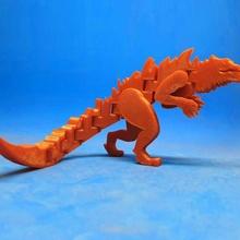flexi-godzilla 1998 toys & games animal figure toy flexible articulated flexi juguete figura articulado