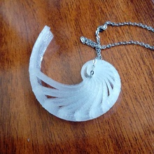nautilo cáscara colgante pendiente llavero openscad cáscara joyería joya espiral concha personalizador nautilo fibonacci golden ratio