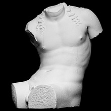 Farnese dioniso Varredura cabelo homem escultura masculino tronco sentado Farnese fragmento Nápoles Baco Dionísio sentar artec openglam artec eva smk open