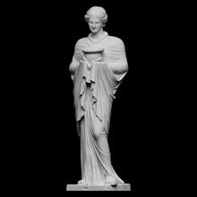 statua sacerdotessa musa scansione 3d femmina Roma scultura statua donna religione gesso tessuto musa figurativo Adriano sacerdotessa tivoli artec capitolino openglam artec eva smk open